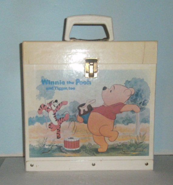 Vintage Winnie The Pooh Album Case Record Case
