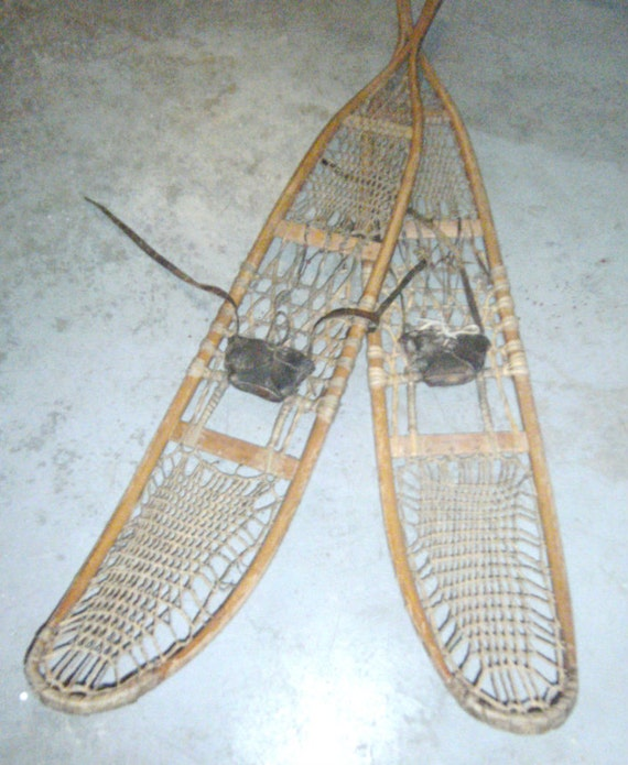 Vintage WWII Era Snowshoes 1943 Snowshoes 4058 By Carriesattic