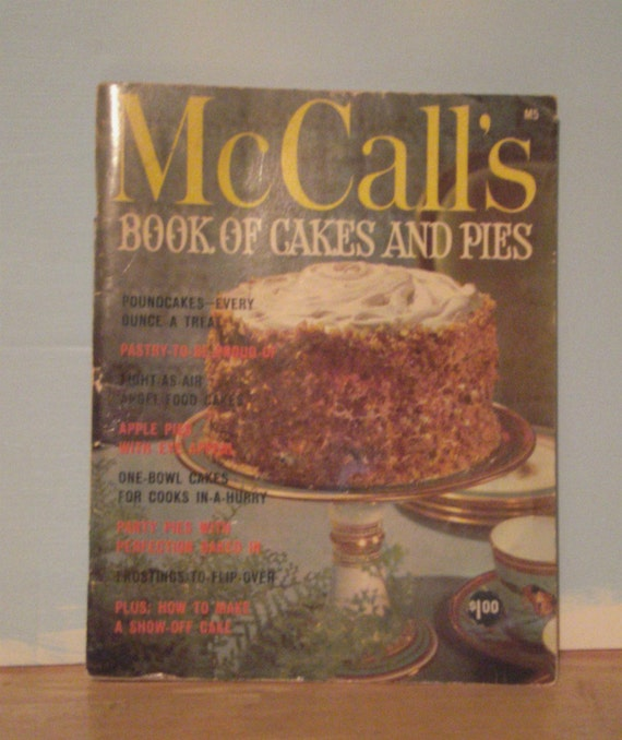 Vintage McCalls Cake and Pie Cook Book