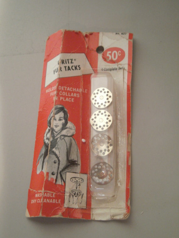 Vintage Dritz Fur Tacks In Original Package