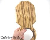 Hand Mirror Zebra Wood Beveled Octagon Heirloom Quality Wall Mirror Grahtoe