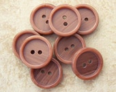 Brown Plastic Buttons 15mm - Marbled Brown Sewing Buttons - Chocolate Fudge Ripple Buttons  - 8 VTG NOS 1/2 inch Brown Buttons PL002 bb