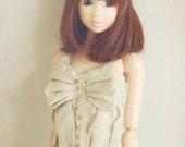 Jiajiadoll- cream bowknot vest fits Momoko Or Misaki