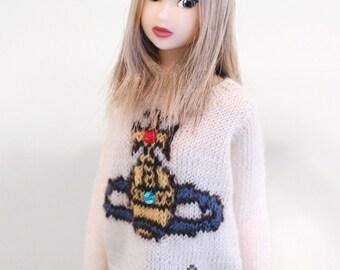 jiajiadoll - hand knitting- vw logo sweater fits Momoko Or Blythe Or Misaki