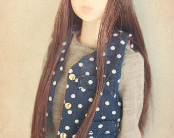 DISCOUNT 30% OFF Jiajiadoll- blue dots vest fits Momoko Or Misaki