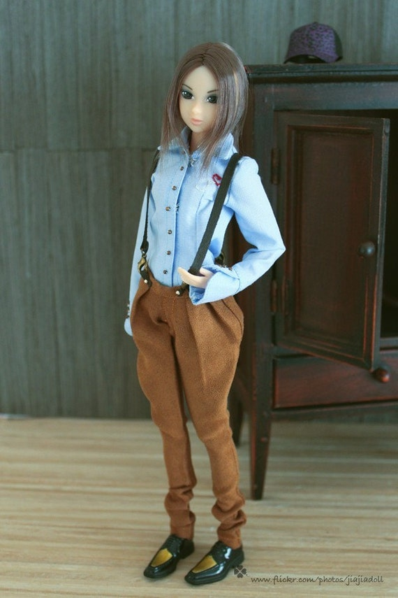 Jiajiadoll- ocher delicate breeches with straps ocher fits Momoko Or Blythe Or Misaki