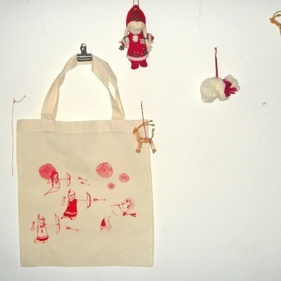 Ghost Indian Bird Hunt Tote Bag // ON SALE