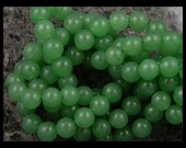 Opaque Green Aventurine 8mm Round - Full Strand - GM351