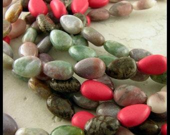 VARIETY Strand MIXED Gemstones Teardrop Shape - GM271
