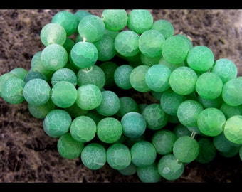 Green Crab Agate - Smooth Matte Finish  - GM348