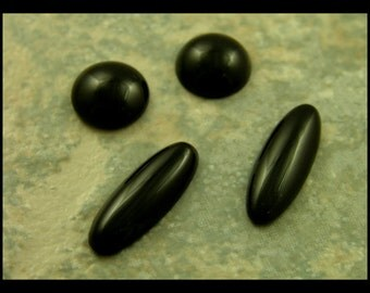 Set of Black Agate Cabochons - GM115