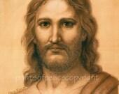 Jesus- Christ-  Print  -Art   - 8 x 10- Close Out Sale 50 % Off