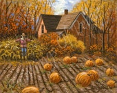 Autumn - Country - Home - Pumpkins - Harvest  - on SALE  now  - 11 x 14 print