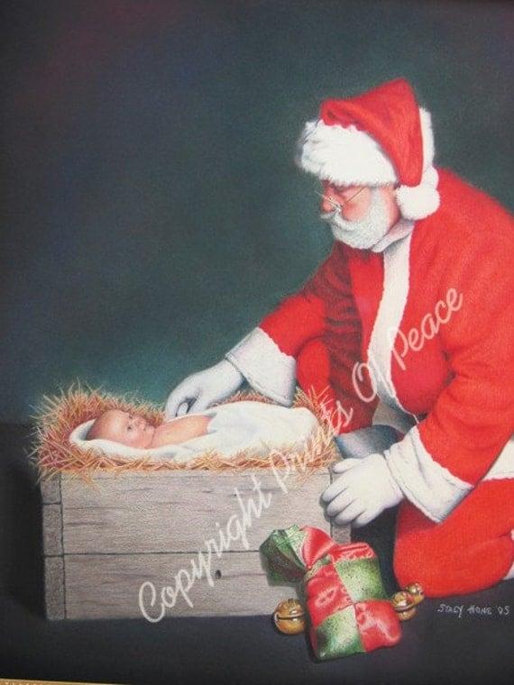 Santa -  Claus -The True Reason for the Season - Christmas- Print 5 x 7