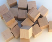 Unfinished Wooden Blocks - Medium 1 inch - Pack of 10