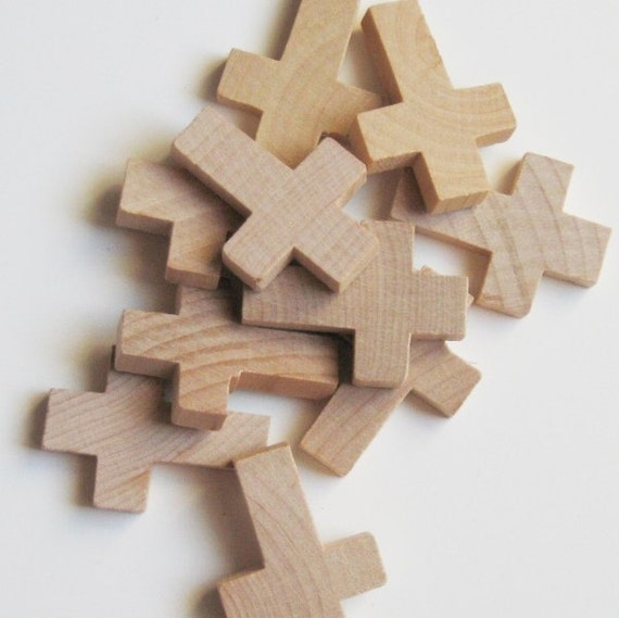 Small Unfinished Wooden Cross