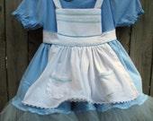 Alice's Adventures in Wonderland Dress - A Green Girl's Costume