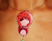 RED MATRYOSHKA necklace