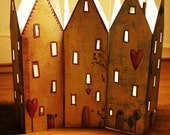LOVING HOUSES candle light holder PDF pattern to print out (SALE)