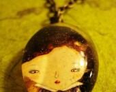 SNOWWHITE glass pendant necklace