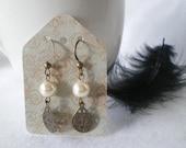 Earrings Vintage Drop Pearl 406