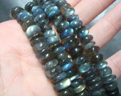 15 inch strand of Fiery labradorite smooth rondelles - 4 mm     FREE SHIPPING
