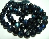 Lot of 10 Spectrolite pearl beads (6 mm)    FREE SHIPPING