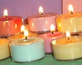 DRAGON'S BLOOD - One Dozen Vegan Soy Tea Lights
