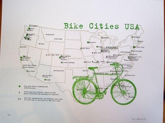 bike cities usa map