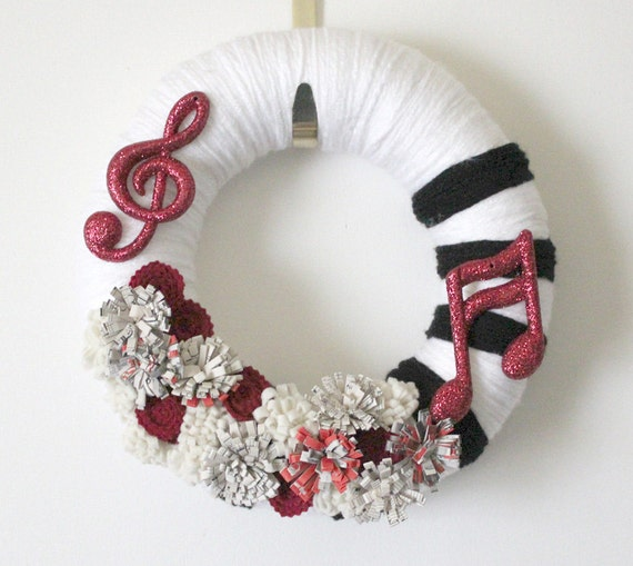 Reserved For Doodle Music Lovers Wreath Yarn And Felt With