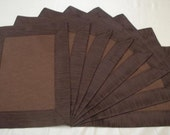 Chocolate Tailored Dinner Placemats (Set of 8)