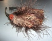 Brown and Pheasant feather headband