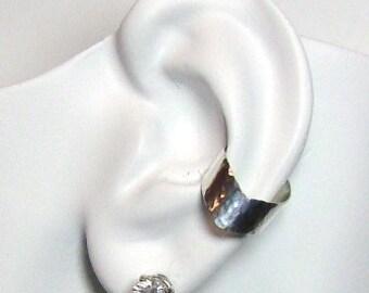 Ear Cuff Silver Ear Band Non-pierced Cartilage Wrap Earring Fake Conch No Piercing CuffEarring Simple EarCuff Earring ChevronHammered E2SSHM