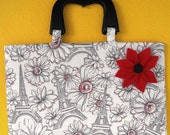 Paris Spring Time Purse with Detachable Brooch