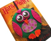 Pretty Owl Bookmark - Recycled CD