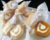 Caramel and nougat pinwheels - 1/2 lb. (bullseyes)