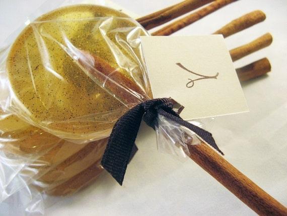 Cinnamon stick lollipops - 6 pc.
