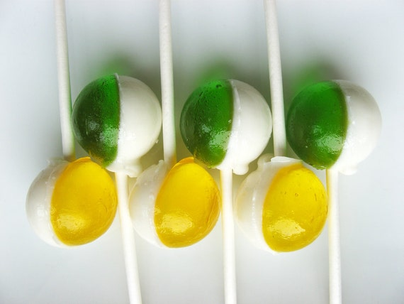 Caribbean collection - Piña colada and lime coconut lollipops - 6 pc - closeout READY TO SHIP