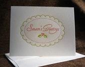 Season's Greetings letterpress folded notes