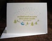 Kind Word letterpress folded notes