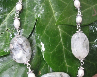 Prehnite and Pearl Rainforest Necklace