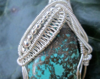 Turquoise Monsoon Wire Wrap Sterling Silver
