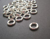 Shiny Silver Plated Soldered Ring Spacers - 8mm - 25 Pieces