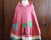 Earthday Tree Organic Fleece Poncho