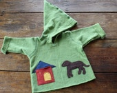 Organic Childrens Chocolate Dog Hoodie