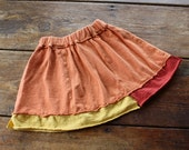 Organic Spinny Skirt--carrot orange