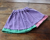 Organic Spinny Skirt--crocus purple