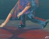 Dancing Feet 5 - Original Painting by Nithya Swaminathan - READY TO FRAME