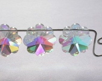14 mm VINTAGE Swarovski Beads Art. 5110 Margarita Crystal AB 3