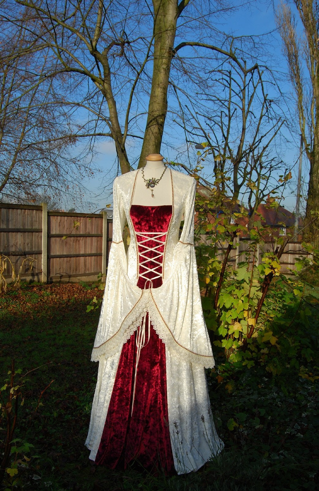 Medieval wedding gown dress celtic renaissance by for Celtic wedding dresses for sale